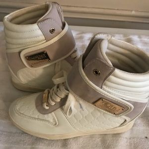 ab99037feeac bebe Shoes - Bebe Sports Colby High top wedge sneakers